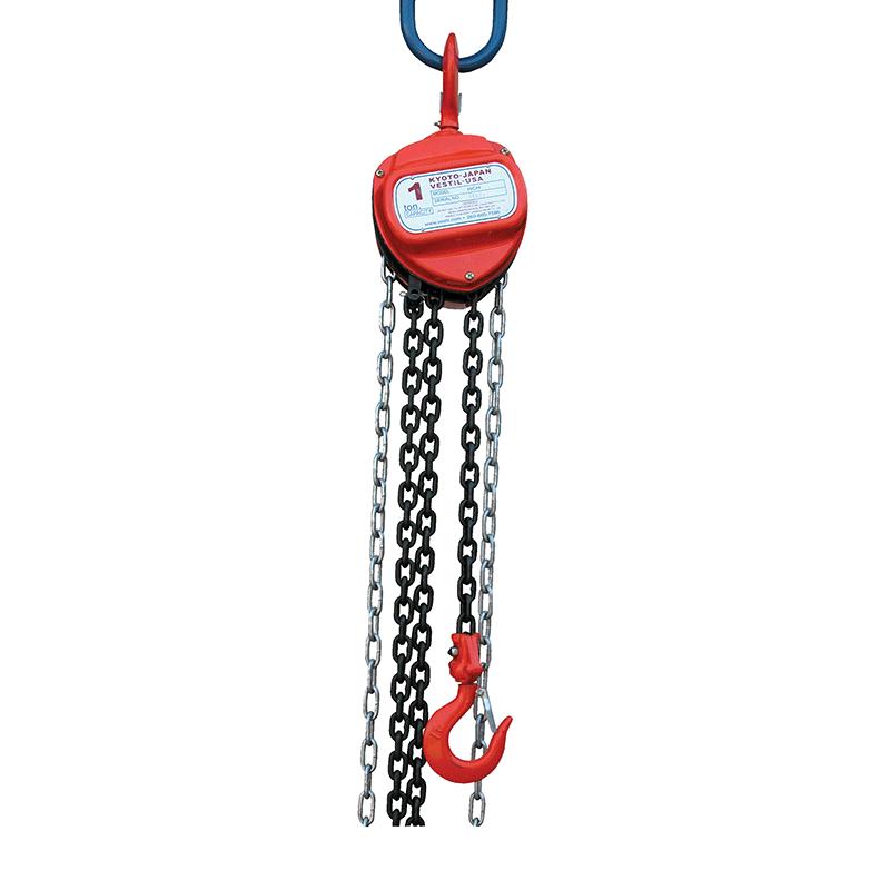 Hand Chain Hoist - Light Duty - Capacity 1 ton - Lift - 15 ft.